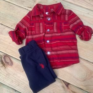 Genuine Kids Flannel Polo Assn Sweat Jogger 2t